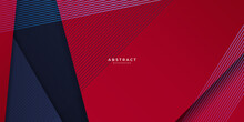 Modern Blue And Red Contrast Abstract Background