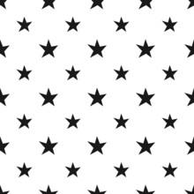 Stars Doodle Seamless Pattern.