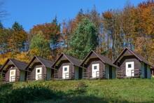 Rajnochovice. Cottage Settlement In Autumn. Czechia. Europe.