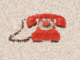 old red dial-up phone buttons mosaic