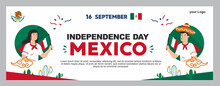 Mexican Independence Day Illustration, September 16th Poster For Background. Viva Mexico