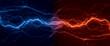 Leinwandbild Motiv Fire and ice lightning, abstract plasma background