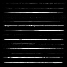 White Grunge Lines Vector Paint Brush Collection
