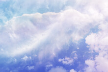 Blue And Pastels Soft Cloud Blend, Sweeping Clouds, Ethereal, Only Clouds And Blue Sky
