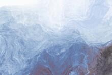 Abstract Background Of Liquid Paint Ice-ocean Water Fluid Art