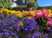 Summer Flowers, In A Corner Of The Beautiful Town Of, Pateley Bridge, Harrogate, UK