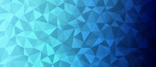 Mosaic Background. Grid Design, Light Refraction. The Texture Of Chaotic Triangles, Glass Fragments. Technology. Business Banner, Website Landing Page Poster, Medicine, Social Networks. Vector
