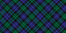 Black Watch Tartan Plaid. Royal Scottish Argyle Fabric Swatch.
