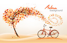 Discount, Sale, Floral, Autumn, Red, Concept, Collage, Seasonal, Leaf, Yellow, Vector, Template, Orange, Card, Label, Abstract, Season, September, October, Frame, Backdrop, Texture, Design, Gold, Colo