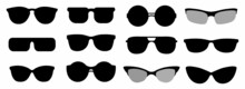 Sun Glasses, Eye Glasses Icon Set
