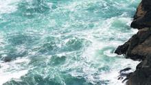 Waves Break On Rocky Shore (texture)
