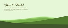 Nature Landscape Vector Illustration With Text Preview. Good For Banner, Backdrop, Travel Banner, Adventure Banner, Web Banner, Ads Banner.