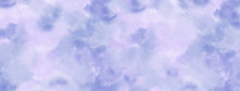 Watercolor With Clouds Texture On Blue Sky Background. Painted Smoke Or Haze In Blotches Background Design