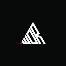 WDR Letter Logo Creative Design. WDR Unique Design, WOR Letter Logo Creative Design. WOR Unique Design