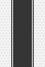 灰色の麻葉模様と黒色の縦帯、ハガキ比率の背景