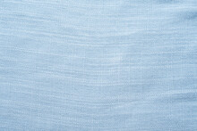 Light Blue Spring And Summer Linen Blended Fabric