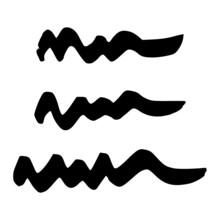 Black Wavy Grunge Brush Strokes