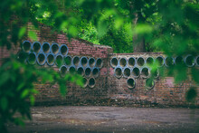 Unusual Wall With Round Holes