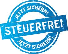 Blauer Button Steuerfrei Zerkratzt