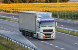 Fototapeta Londyn - Highway transportation with cars and Truck
