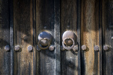 Closeup Shot Of An Old Wooden Door