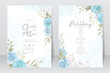 Wedding invitation template with beautiful floral design