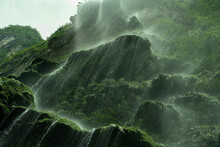 Waterfall Seen From Below In Mexico