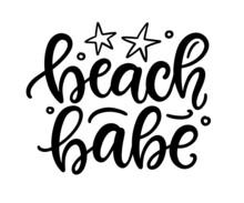 Beach Babe Hand Written Lettering Template