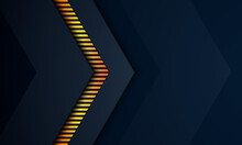 Abstract Dark Blue Background With Gold Line Textured, Technology Background, Modern Landing Page Concept Vector.