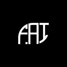 FAI Letter Logo Design On Black Background. FAI Creative Initials Letter Logo Concept. FAI Letter Design.