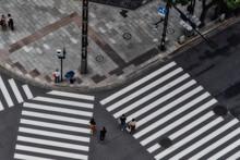 銀座の横断歩道