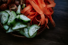 Close Up Of Fresh Raw Vegetables
