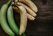 Overhead View Of Fresh Bananas