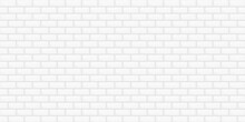Abstract Background White Color Brick Wall Building Wallpaper Backdrop Retro Pattern Seamless Vector Illustration