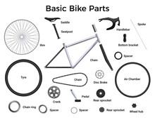 Realistic Bike Parts Set