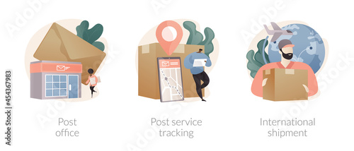 Fotografie, Obraz Parcel delivery abstract concept vector illustrations.