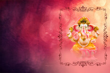 Ganesh Chaturthi Festival Background With Lord Ganesha