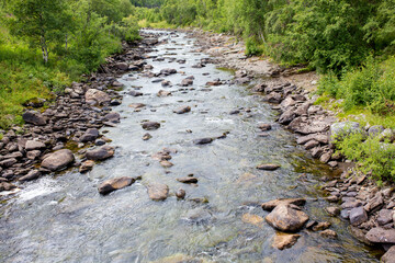 River with rocks in Norway