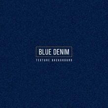 Dark Blue Denim Texture Background, Realistic Jeans Fabric Pattern.