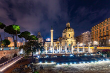 View To Forum Romanum In Rome With Corinthian Columns In Rome