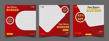 Food Menu And Delicious Burger Social Media Banner Template