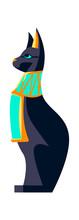 Sacred Animal Of Ancient Egypt, Black Cat