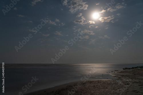 Fotografie, Obraz Seashore on a moonlit night