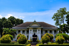 Northern Thai House Traditional Style In Public Garden , Phrae Province, Thailand Landmark For Tourist.