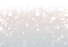 キラキラとボケの銀色の背景のベクターイラスト(クリスマス,抽象,アブストラクト,雪,白,銀世界)