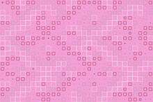 Pink Background. Abstract Design. Pattern With Square Elements.