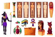 Egyptian Attributes Of Culture And Religion Set