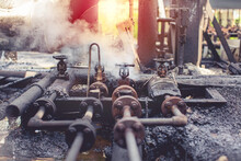Corrosion Rusty Through Valve Tube Steam Gas Leak