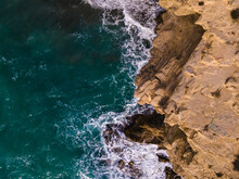 Aerial View Of Rocky Coast