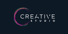 Creative Logo With Color Brush Concept Premium Vector Part 2